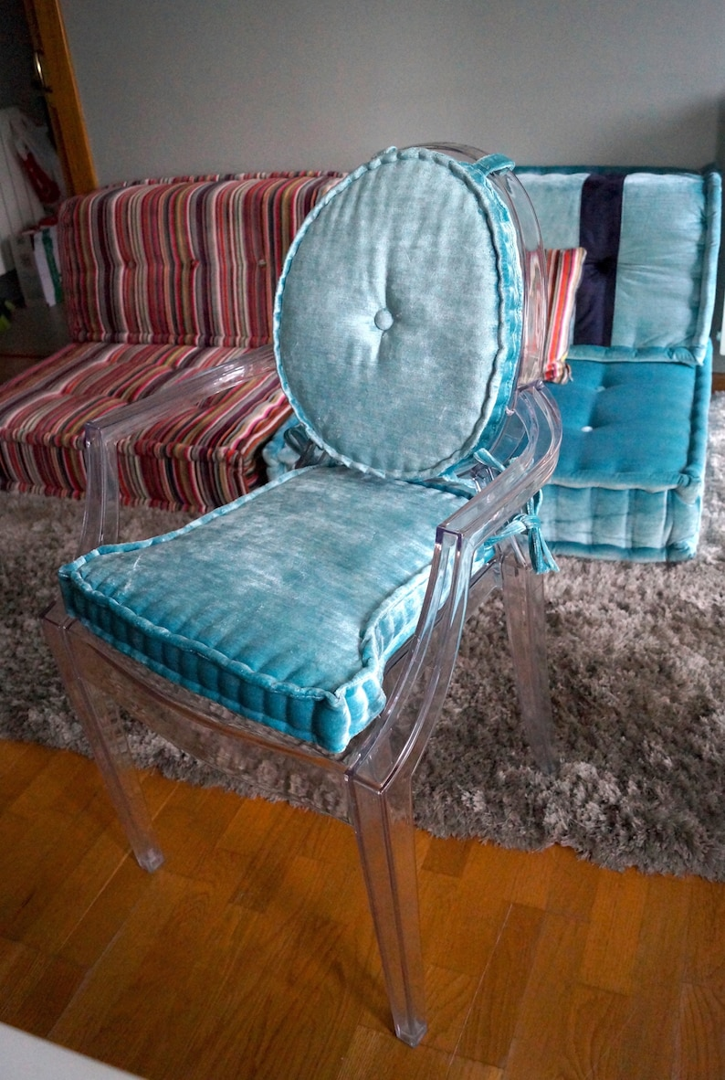 Set Of Seat And Back Cushions For Louis Ghost Chair