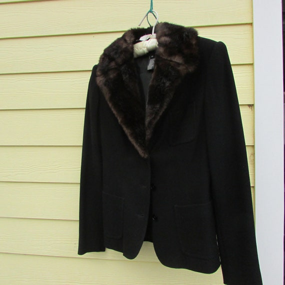 Ralph Lauren vintage jacket faux fur 1980's - image 2