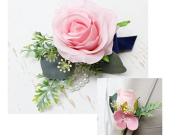 prom Wrist corsage and boutonniere matching set wedding father-daughter dance