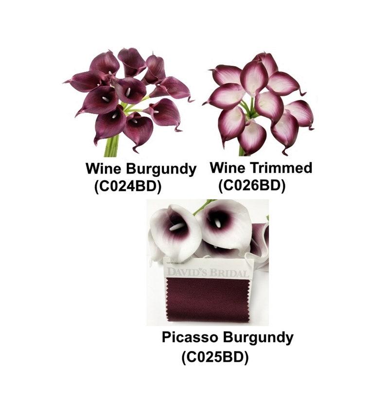 10pc Calla Lily Bundle Wine Color Theme Picasso Wine Wine Etsy