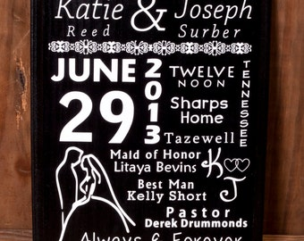 Personalized Wedding Gift - Wodden Sign