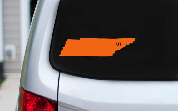 Tennessee love vinyl car decal heart or ut over knoxville