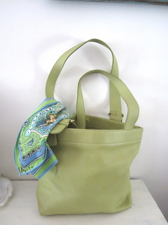 Vintage Coach Bucket Bag Large Green Coach Tote Co