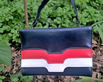 Red White Blue Purse Etsy
