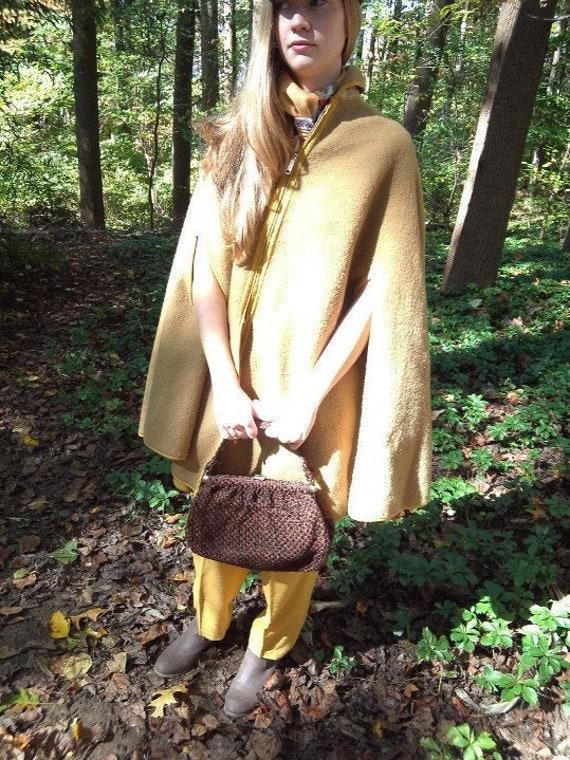 Fall Autumn Tweedy Carpet Bag Purse