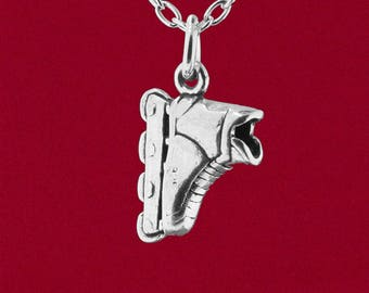 Roller Blade Inline Skate 925 Solid Sterling Silver 3D Jewelry Pendant Detailed Design - Charm Only