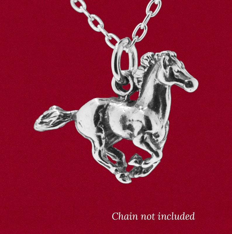 925 Sterling Silver 3D Horse Stallion Mustang Euro Bead Charm