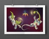 Space Dinosaurs Illustrat...
