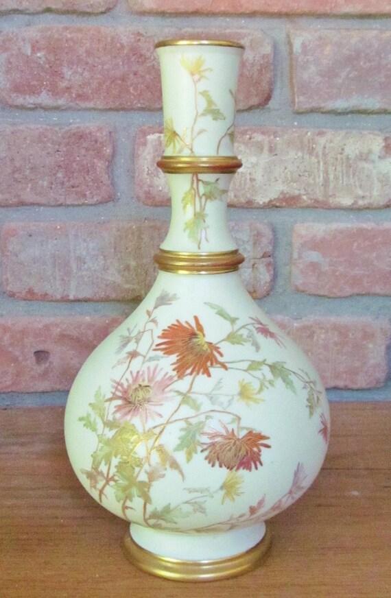 C1890 Royal Worcester Vase 9 Blush Ivory Etsy