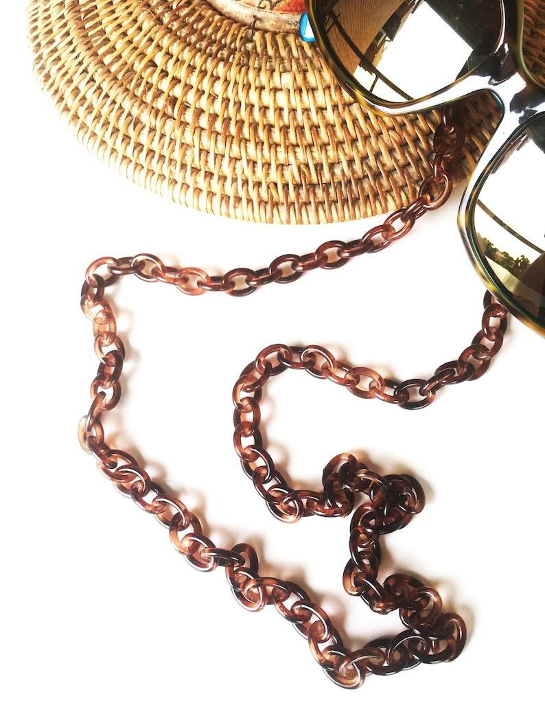 Trendy Sunglass Holder cool eyeglass holder,brillenkette,catenella occhialli,cadena gafas Chunky tortoise shell eyeglasses Chain