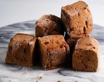 Chocolate Marshmallows - 1 dozen fair trade Gourmet homemade marshmallows
