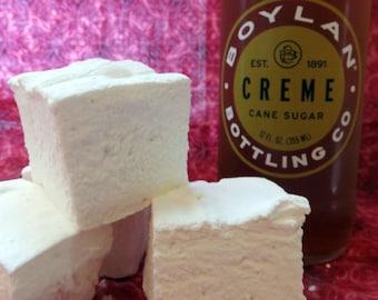 Cream Soda Marshmallows  -  Creme Soda - 1 dozen Gourmet homemade marshmallows