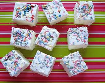 Birthday Cake Marshmallows - 1 dozen Gourmet homemade marshmallows