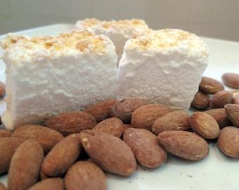 Almond Marshmallows - 1 dozen Gourmet homemade marshmallows