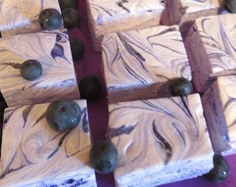 Blueberry Marshmallows - 1 dozen Gourmet homemade marshmallows