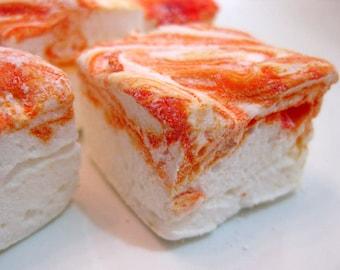 Tangerine Dream Marshmallows - 1 dozen Gourmet homemade marshmallows