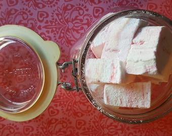 Peppermint Marshmallows  - 1 dozen Gourmet homemade marshmallows for Christmas