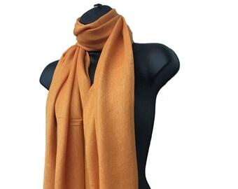 Orange Scarf Pashmina Abstract Design Oversized Soft Feel Vibrant On Trend NEW