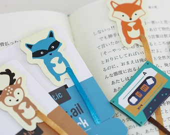 Magnetic Forest Animal Bookmarks 4 Pcs Journaling