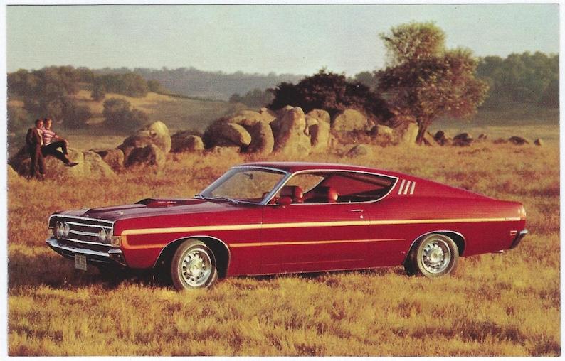 Vintage Postcard: 1969 Ford TORINO GT SportsRoof 2-Door Hardtop