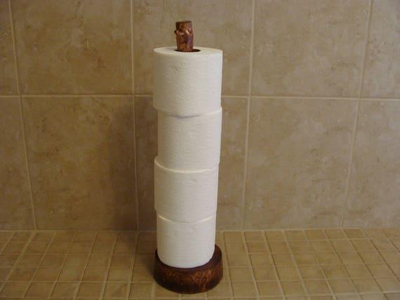Superieur Rustic Toilet Paper Storage StandStores 4 Rolls In Fine Log   Etsy
