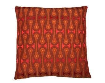 """Design 9297 Scarlet by Josef Hoffmann - Maharam textiles -accent pillow 17"""" x 17"""" feather/down insert included"""
