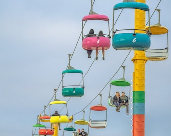 Colorful Chairs Above the Park