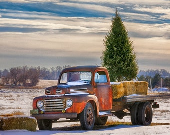 Red Truck Holiday Card