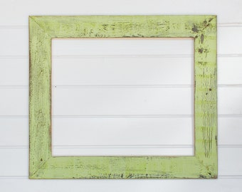"20x24 4"" Painted Barnwood Frame- Green, Blue, White, Coral"