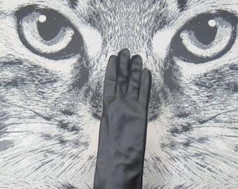 60s / 70s Black Vinyl Gloves / One Size