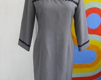 60s Handmade Rick Rack Dress / L / XL