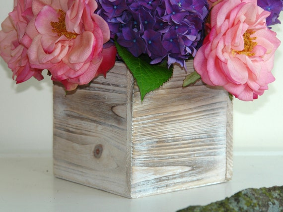 Wood Box Wood Boxes Square Wood Vase Wedding Flower Pot Etsy