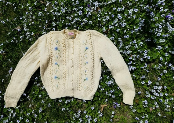 50s // Flora handknit cardigan