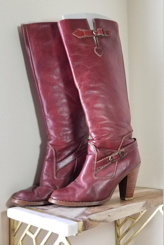 70s // Zodiac tall boots