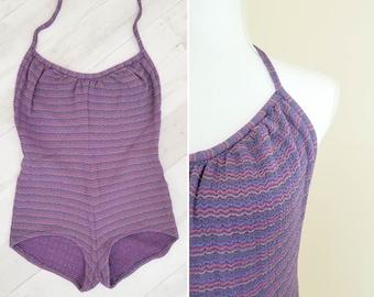 70s // Keys striped swimsuit