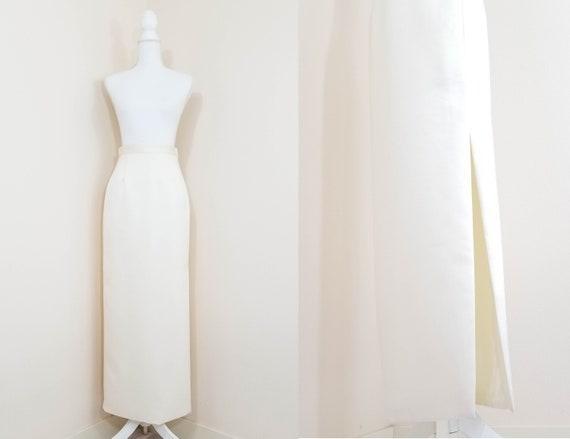 90s // Oleg Cassini wedding skirt