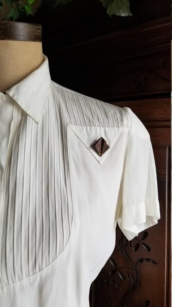 40s // Deco darling blouse