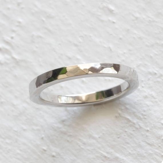 Platinum Wedding Band.Hammered Platinum Wedding Band Ecofriendly Wedding Ring Choose A Width