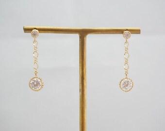 yvonne - double crystal swing earrings