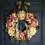 Valentines Day Hydrangea Wreath | Door Wreath | Spring Wreath