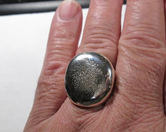 RING... sterling silver and brass... Shibuichi... size 12