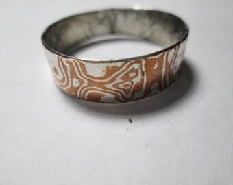 ring, size 13... Mokume Gane'