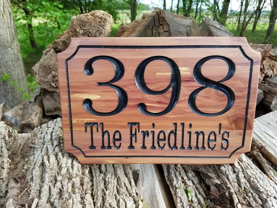 Address Sign For House Home address Signs Custom Driveway Sign Custom House Numbers  Outdoor Name Sign Apartment Number Red Cedar ST4