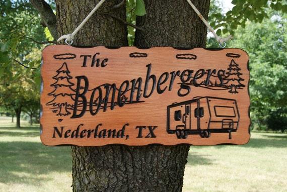 Camping Sign Camper RV Sign Camp Sign Camper Sign Camping Decor Campsite Sign Wood Camping Sign Camping Gift Carved Camper  19 x 9 Pine 554