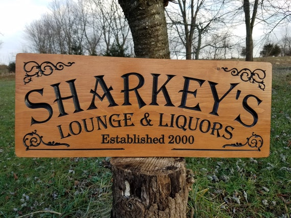 personalized bar signs - MicroBrewery Craft Brewery - speak easy - winery sign - Fathers Day Gift wooden business sign saloon sign Pine 730