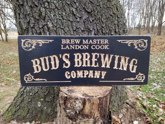 Custom Wood Signs Wooden Signs Brewery Name Saloon Sign Personalized Wooden Signs Man Cave Signs Old Western Sign Beer sign Hardwood 726