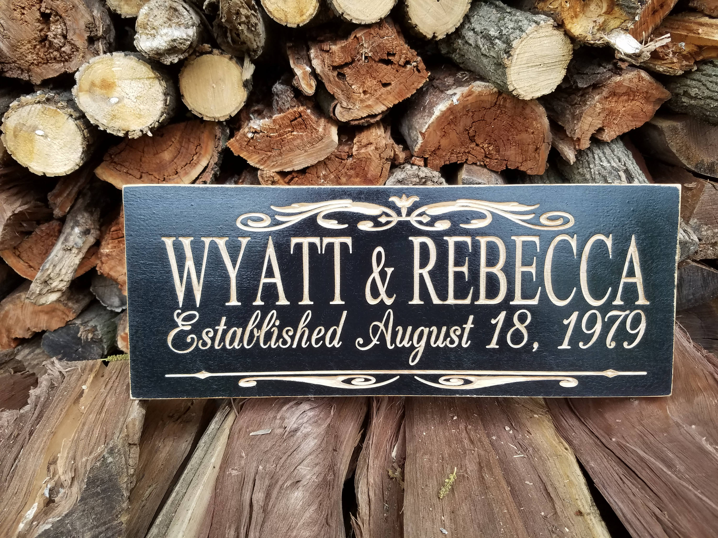 Wedding Signs Wood Family Sign Personalized Wedding Sign Wooded Name ...