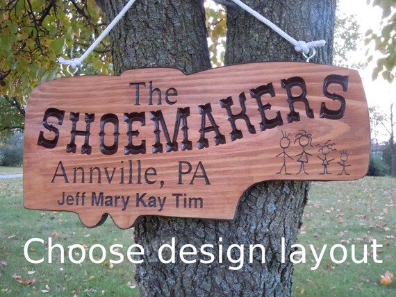 5th Wheel Camper Shape. Sign Family Names Personalized Carved Wooden RV Sign Stick People Retirement Gift City State 19 x 9 Pine 509