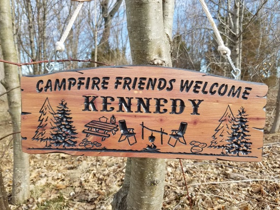 Camping Sign. RV Sign Camping Signs Campsite Sign Custom RV Sign Camp Decor Camper Signs Wooden Camp Signs trailer signs Cedar 575