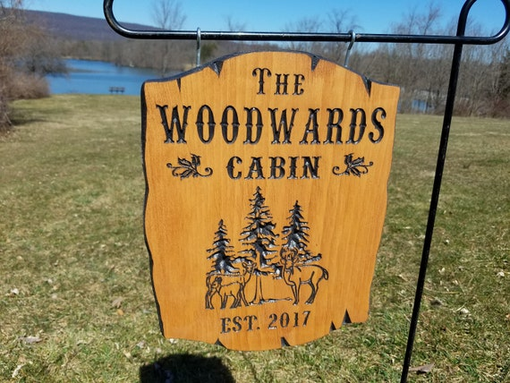 Custom Outdoor House Signs Custom Wooden Signs Camp Sign Custom Outdoor Name Signs Custom Wood Signs Established Date 11 x 14 Pine 385